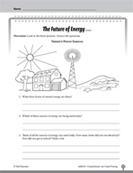 Test Prep Level 3: The Future of Energy Comprehension and Critical Thinking