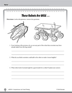 Test Prep Level 3: These Robots Are Wild Comprehension and Critical Thinking