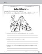 Test Prep Level 3: We Can Eat Smarter Comprehension and Critical Thinking
