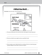 Test Prep Level 4: A Whole New World Comprehension and Critical Thinking