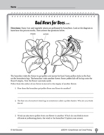 Test Prep Level 4: Bad News for Bees Comprehension and Critical Thinking