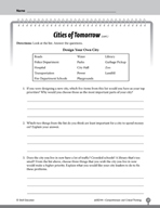 Test Prep Level 4: Cities of Tomorrow Comprehension and Cr