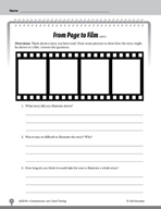Test Prep Level 4: From Page to Film Comprehension and Critical Thinking