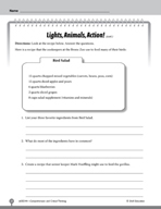 Test Prep Level 4: Lights, Animals, Action! Comprehension and Critical Thinking