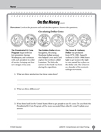 Test Prep Level 4: On the Money Comprehension and Critical Thinking