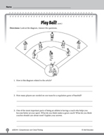 Test Prep Level 4: Play Ball! Comprehension and Critical Thinking