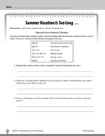 Test Prep Level 4: Summer Vacation Comprehension and Critical Thinking