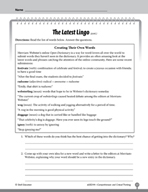 Test Prep Level 4: The Latest Lingo Comprehension and Critical Thinking