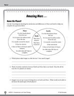 Test Prep Level 5: Amazing Mars Comprehension and Critical Thinking