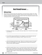 Test Prep Level 5: Best Friends Forever Comprehension and Critical Thinking