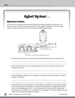 Test Prep Level 5: Bigfoot? Big Hoax! Comprehension and Critical Thinking