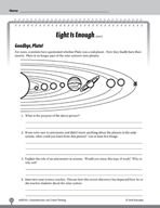 Test Prep Level 5: Eight Is Enough Comprehension and Critical Thinking