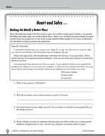 Test Prep Level 5: Heart and Soles Comprehension and Criti