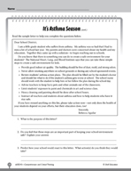 Test Prep Level 5: It's Asthma Season Comprehension and Cr