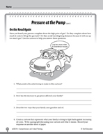 Test Prep Level 5: Pressure at the Pump Comprehension and Critical Thinking