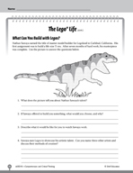 Test Prep Level 5: The Lego® Life Comprehension and Critical Thinking