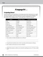 Test Prep Level 6: A Language Art Comprehension and Critic