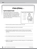 Test Prep Level 6: A Taste of History Comprehension and Critical Thinking