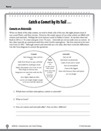 Test Prep Level 6: Catch a Comet by Its Tail Comprehension and Critical Thinking