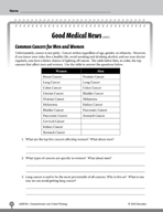 Test Prep Level 6: Good Medical News Comprehension and Critical Thinking