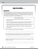 Test Prep Level 6: High-Tech Bullies Comprehension and Critical Thinking