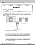 Test Prep Level 6: In the Middle Comprehension and Critica