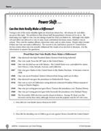 Test Prep Level 6: Power Shift Comprehension and Critical Thinking