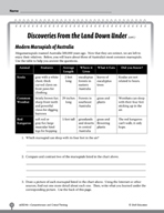Test Prep Level 6: The Land Down Under Comprehension and Critical Thinking