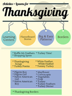 Thanksgiving Activities, Patterns, and Stories for Grades PK-2