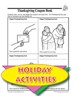 Thanksgiving Coupon Book and Other Themed Activities