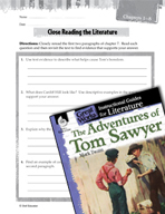 The Adventures of Tom Sawyer Close Reading and Text-Depend