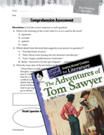 The Adventures of Tom Sawyer Comprehension Assessment (Great Works Series)