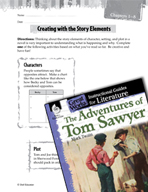 The Adventures of Tom Sawyer Studying the Story Elements (Great Works Series)