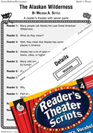 The Alaskan Wilderness Reader's Theater Script and Lesson