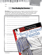 The Boy in the Striped Pajamas Close Reading and Text-Dependent Questions (Great Works Series)
