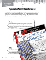 The Boy in the Striped Pajamas Post-Reading Activities (Gr