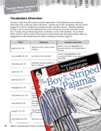 The Boy in the Striped Pajamas Vocabulary Activities (Great Works Series)