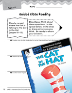 The Cat in the Hat Close Reading and Text-Dependent Questi