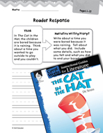 The Cat in the Hat Reader Response Writing Prompts (Great
