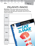 The Cat in the Hat Studying the Story Elements (Great Work