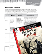 The Dark Is Rising Leveled Comprehension Questions (Great Works Series)