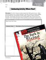 The Dark Is Rising Post-Reading Activities (Great Works Series)