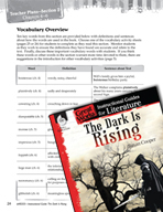 The Dark Is Rising Vocabulary Activities (Great Works Series)