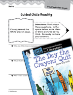 The Day the Crayons Quit Close Reading and Text-Dependent Questions (Great Works Series)