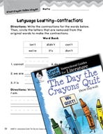The Day the Crayons Quit Language Learning Activities (Gre