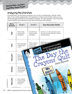 The Day the Crayons Quit Leveled Comprehension Questions (Great Works Series)