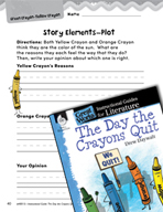 The Day the Crayons Quit Studying the Story Elements (Great Works Series)