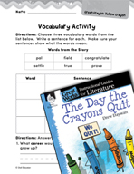 The Day the Crayons Quit Vocabulary Activities (Great Works Series)