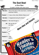 The Dust Bowl Reader's Theater Script and Lesson