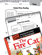 The Fire Cat Close Reading and Text-Dependent Questions (Great Works Series)